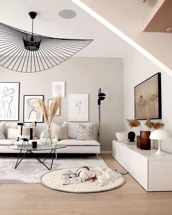 Decoração escandinava-salas de estar-estofos pt